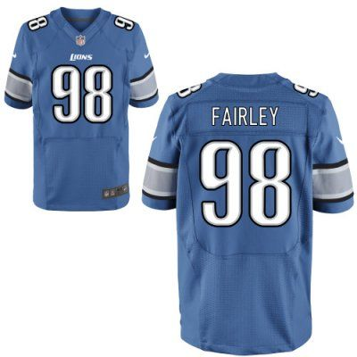 new lions 98 nick fairley nike elite jersey blue team color