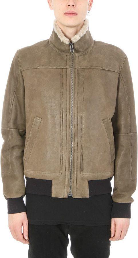 Drome Green Khaki Leather Jacket