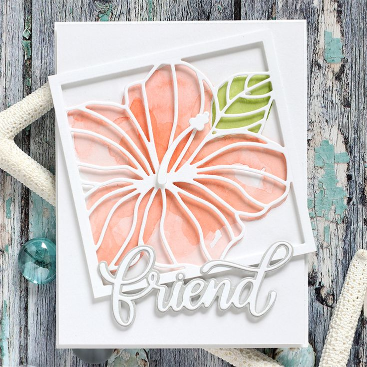 Simon Says Stamp Hibiscus Frame Wafer Dies Sssd111847 Good Vibes Flower Cards Flower Frame Cards Handmade