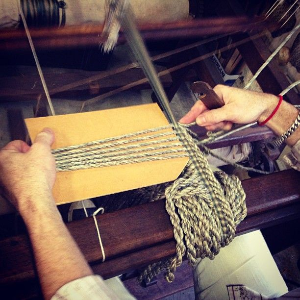 What a fun morning I had with @morrison_polkinghorne & @globetrottinggourmet. This is Morrison hand spinning tassels for a skirt for an ottoman - such a special art form. Thanks for having me boys!!