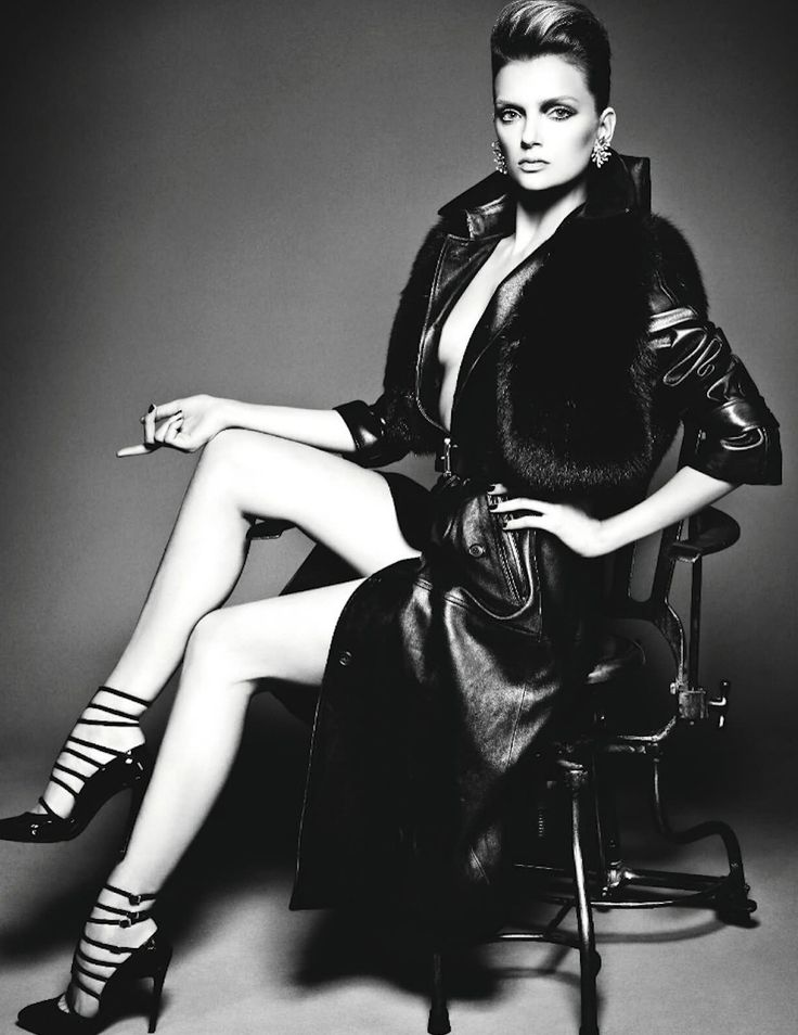 Lily Donaldson for Numero - Michael Kors leather trench