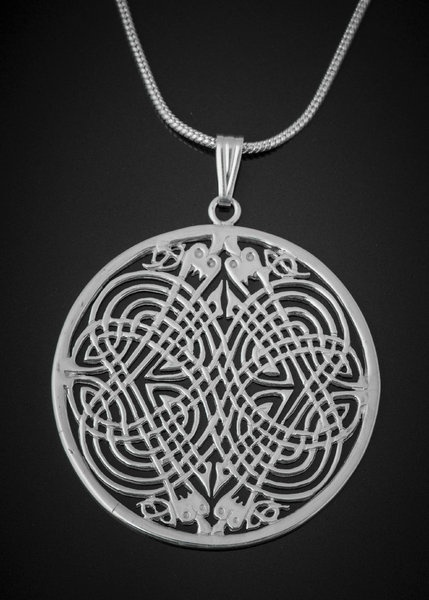 Image result for silver celtic four dragons pendant tain
