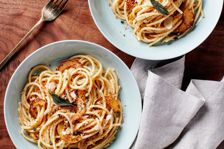 pasta with delicata squash and sage brown butter noodle recipes pasta ...