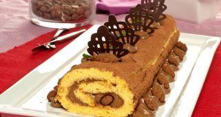 Brazo de gitano relleno de crema de café y chocolate -Chf. Bruno Oteiza