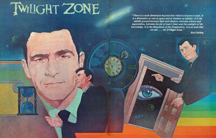 Scifi Art — Twilight Zone double page poster in Starlog...