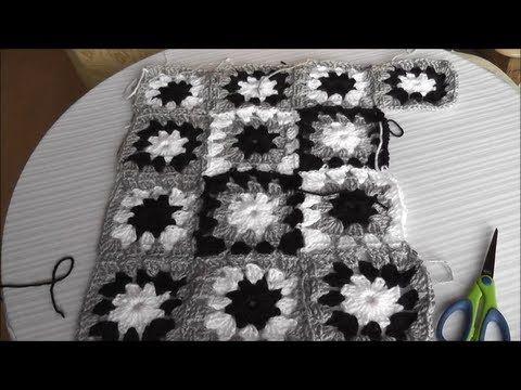 Patchwork Häkelkissen - Mehrfarbiges Muster, Quadrat häkeln Teil 1 / 3 - YouTube