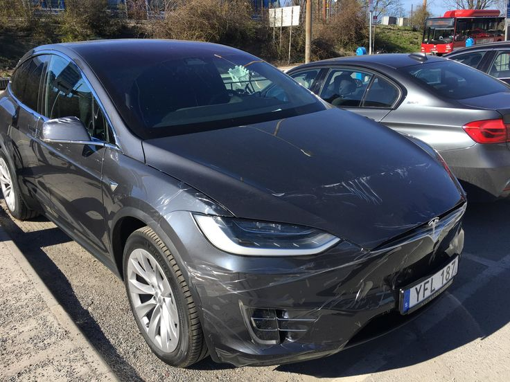 A Model X owner who still hasn't peeled the plastic off the front. #Tesla #Models #car #Automotive #cars #Autos