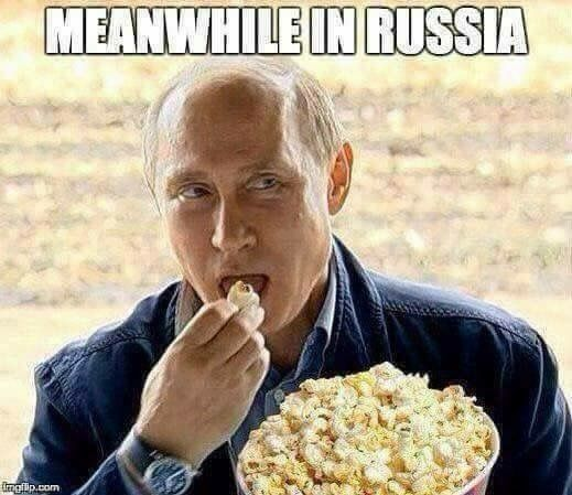 """I love this. Putin just watching Obama's last shit storm, and not falling for any of it. Like """"go ahead bro, throw some more of my people out, I'll have another party with yours. """""""