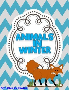 Animals in Winter--A Mini Unit | by First Grade and Fabulous | $Free #Winter #fox #animals #free