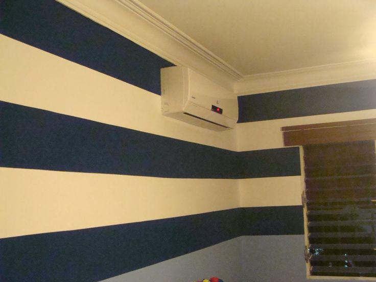 Murales creativos heidy guerrero para los amantes de las - Habitaciones pintadas con rayas ...