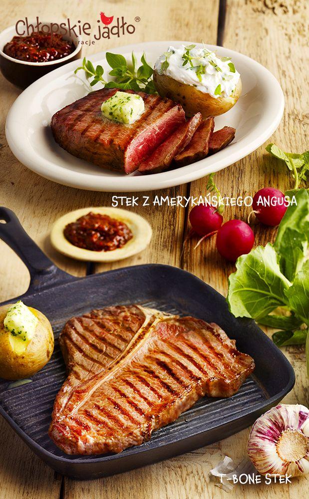 T-Bone Stek i Stek z Amerykańskiego Angusa