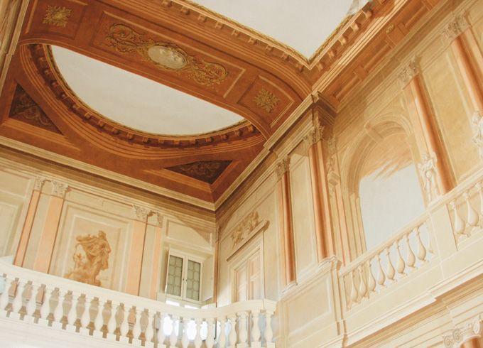 Particolare della balconata del Salone Vecelli