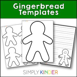 Free gingerbread man templates! #SimplyKInder