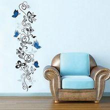 květinové révy motýli samolepky na zeď obývací pokoj dekor x016.  kutilství domácí zvířata obtisky nástěnná art PVC tisk plakátů 4.0 (Čína (pevninská část))