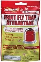 Fruit Fly Trap Attractant - Includes two tubes of attractant, used together to last 30 days.  Simply cut open the tubes and add the liquid to the trap's bottom cup.  Replace top and it's ready to catch fruit flies.  Fast-acting, safe to use around food, non-toxic. Shelf life: Does not expire.  Made in USA.  Manufacturer: Sterling International