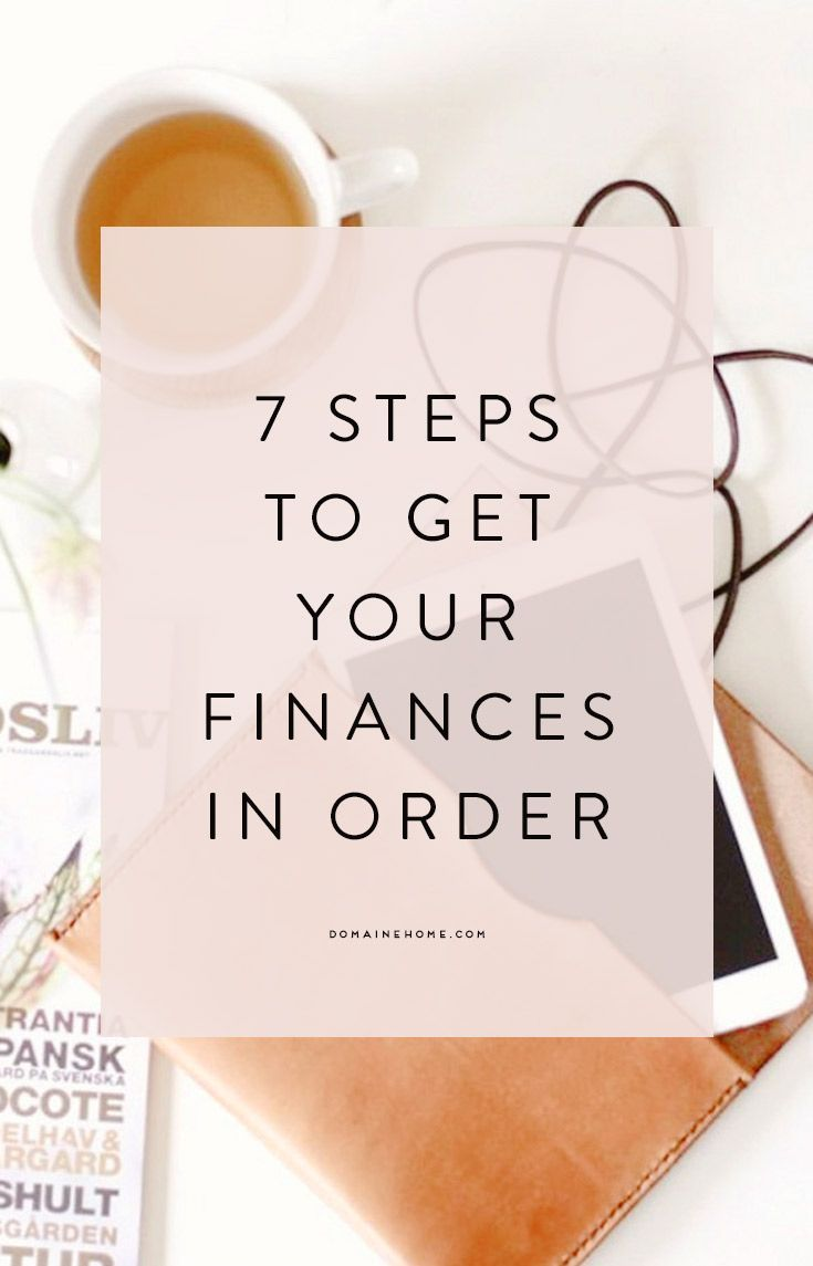 Get your finances in order! #tip