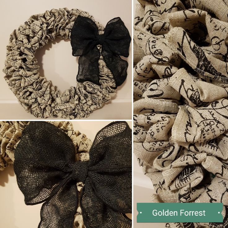 Paris Print Wreath with Bow  #goldenforrest #goldenforrestcreations #wreath #doordecor #print #paris #bow #wreathidea