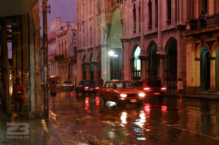 Rain at Dusk on Reina photo | 23 Photos Of Havana
