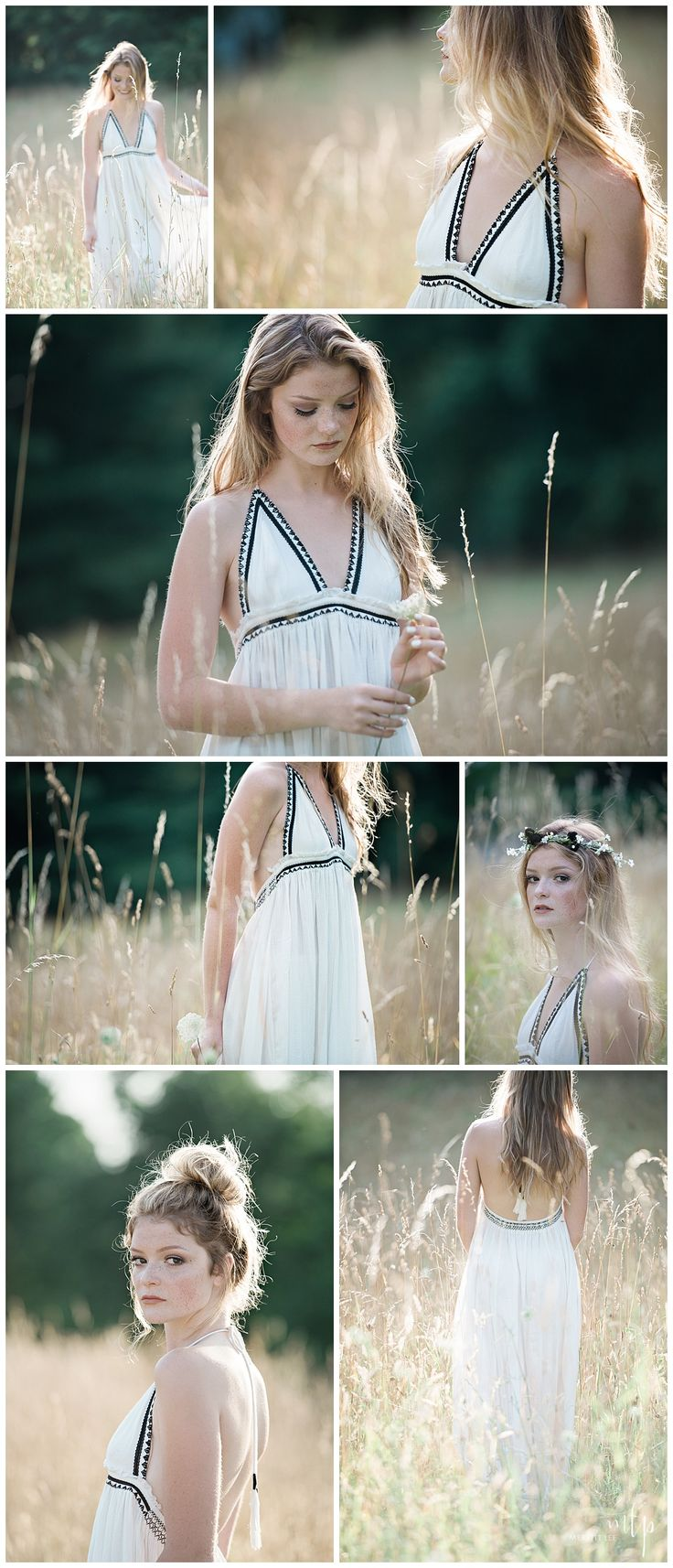 Outdoor Senior Pic Idea! Styled shoot - Hairstyle - Loose Curls - Makeup - Indie Fashion - Natural - Loose Bun - Senior Pictures with Flower Crowns - Unique Senior Pictures - Teen Fashion - Senior Inspo - Trendy - Senior Girl Poses - Sewickley Senior Pictures - Pittsburgh Senior Pictures - By Merritt Lee Photography