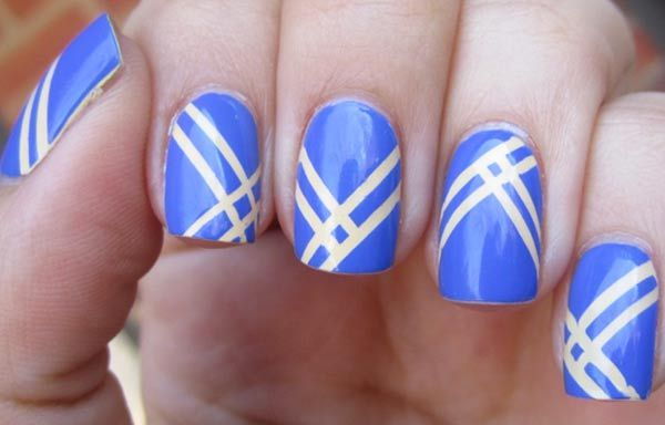 Diseños de uñas con rayas y colores, Diseños de uñas con rayas diagonales.  Unete al CLUB #manicuras #3dnailart #uñassencillas