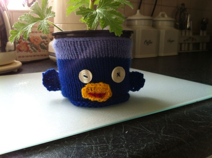 Plant pot sock monkey