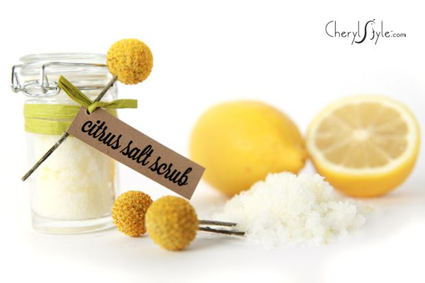 Refresh your skin with this lemon citrus scrub. It's easy to make and you'll shine from the inside out. Consider giving these as party favors or gifts.