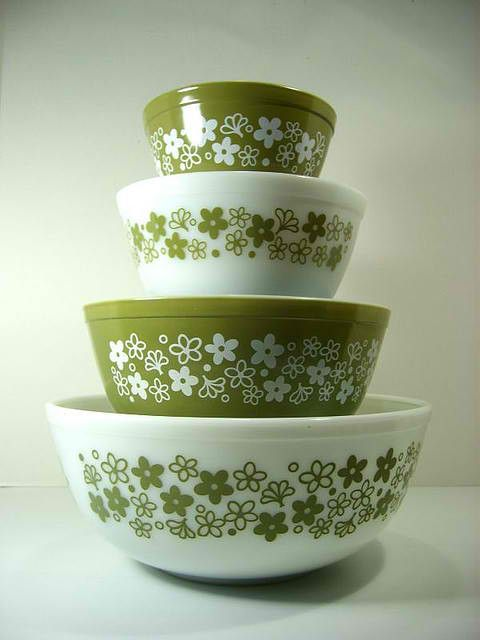 Vintage pyrex I'm still using my grandmother's small bowl. It's the only one that has survived.