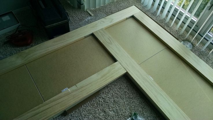 Piece large corner desk together using dowel reinforced butt joints   IKEA Hackers