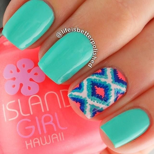 gorgeous summer nails Check out the website, some girl tried a new diet and tracked her results