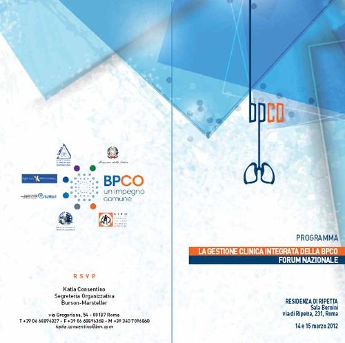 BPCO, Medici di Medicina Generale e Pneumologi insieme per la prima volta. Obiettivo: Fronteggiare un'emergenza sanitaria che in Italia rappresenta la quarta causa di morte e colpisce oltre 2,5 Milioni di Persone
