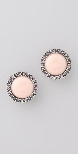 so prettyPink Earrings, Pink Studs, Soft Pink, Stud Earrings, Pale Pink, Studs Earrings, Rachel Leigh, Leigh Jewelry, Perfect Studs