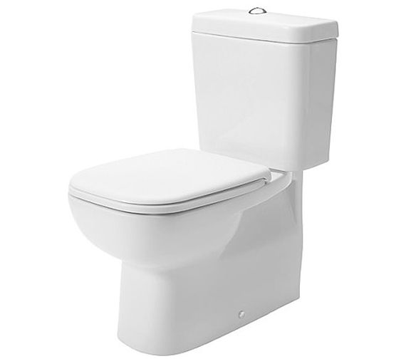 Duravit D-Code Close Coupled Bathroom Toilet including Seat - CC-DCODE