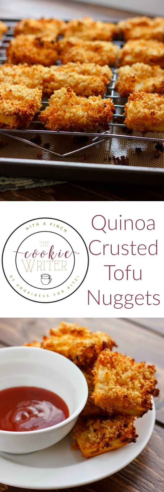 Quinoa Crusted Tofu Nuggets (Tofu Chicken Nuggets!) #tofunuggets