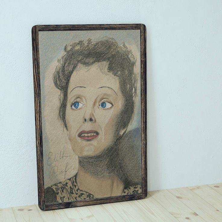 Edith+-+originál+Jemná+kresba+profesionálními+pastelkami+Na+hnědém+papíře+se+strukturou+originál,+signováno+Rozměr+A4,+vhodné+pro+rám+nebo+paspartu+Rámeček+na+obrázku+je+pouze+ilustrační