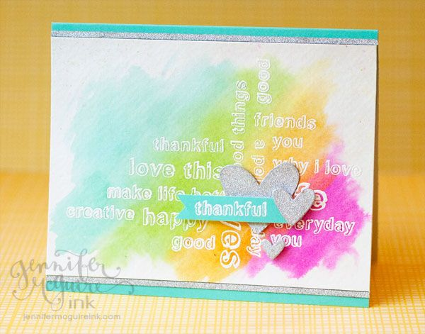 Love this Card by Jennifer McGuire using some new Hero Arts that can be found in the Simon Says stamp Store.  July 2013