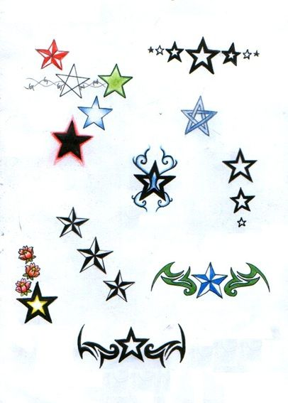 Ster Tattoo, Sterren Tattoos, Betekenis en Voorbeelden. - Tallsay.com