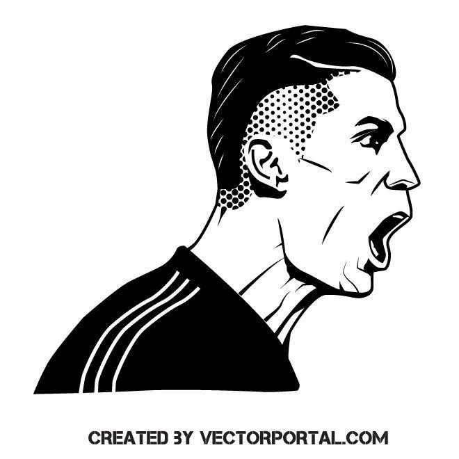 Footballer Cristiano Ronaldo Vector Illustration Ronaldo Silhouette Stencil Cristiano Ronaldo