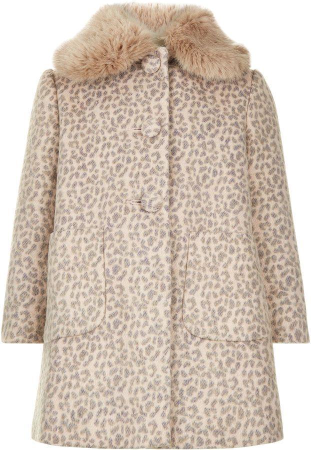 73c6c5c21227 Girls Monsoon Coco Leopard Fur Party Dress Jacket Swing Coat Age 3 to 13  New #Monsoon #BasicCoat #CasualPartySmart
