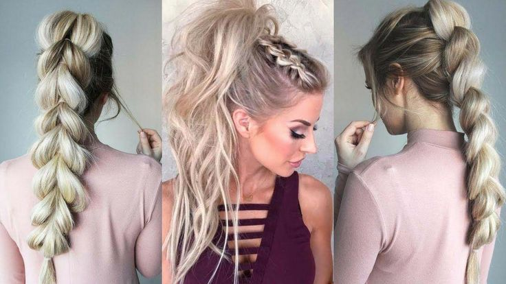 2018 playful & glam ponytail hairstyle