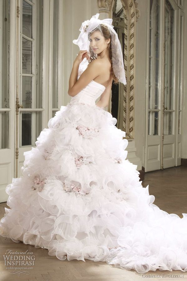 9 best over the top wedding dress images on pinterest for Romanian wedding dress designer