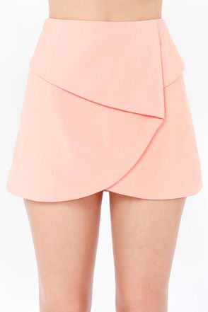 Fold It Together Now Peach Envelope Skirt