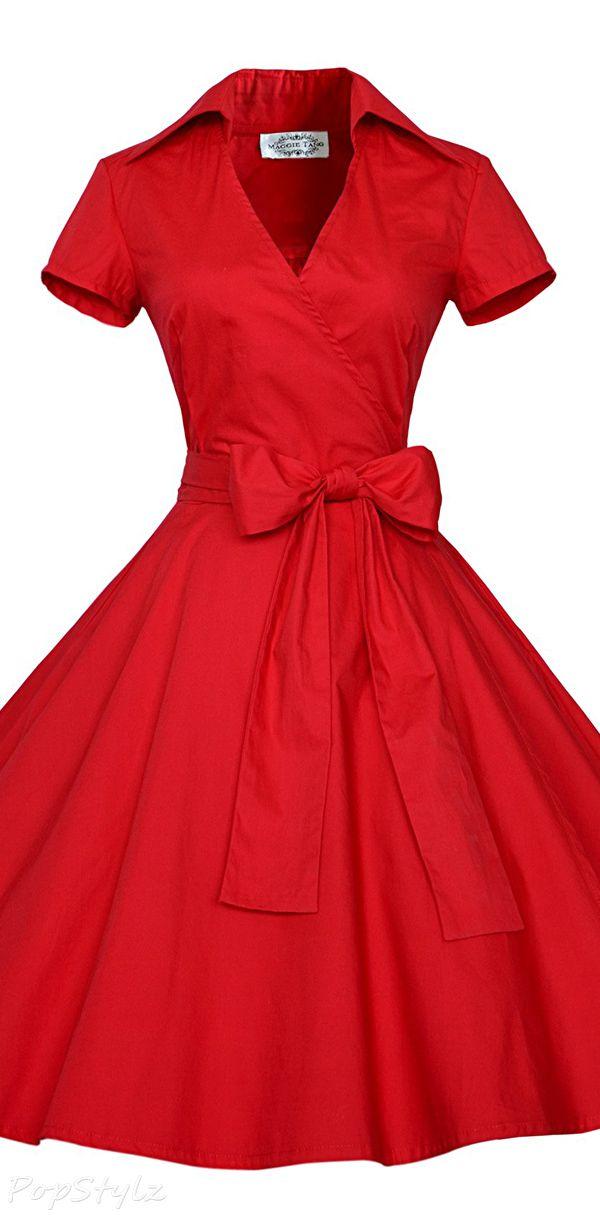 Maggie Tang Vintage 50s 60s Rockabilly Swing Dress