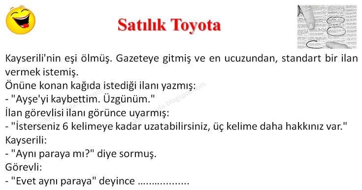 Satılık Toyota - Kayserili Fıkraları - Komikler Burada