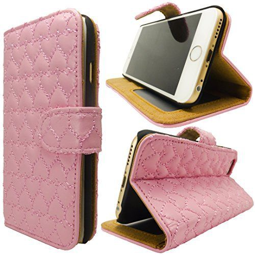 JP010 ピンクハート型 iPhone6 Plus/6s Plus レザーケース選べる色 大人気 レッド透明収納ポケットにプリクラ写真入れとしても使えて便利ですよ ハート かわいい キュート 刺繍 ステッチ レザー iphone 6  Iphone 6s アイフォン 6 6s 携帯 ケース カバー 保護 高品質 人気 長持ち シンプル 機能的 便利 手帳型 横置き レザー ドコモ au ソフトバンク スマホ ケース スマホ カバー 携帯 電話 落下 衝撃 吸収 キズ 防止 防塵