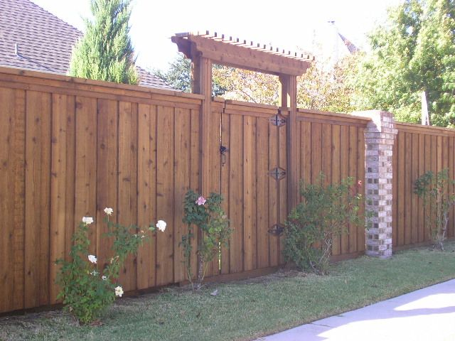 wood fence gate with pergola like the entrance