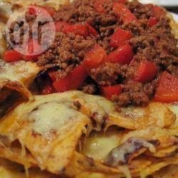 Foto recept: Nacho chili met kaas Wel paprika poeder toevoegen