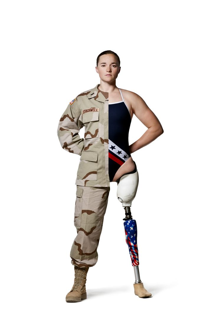 Melissa Stockwell is a retired US Army First Lieutenant. she was the first female soldier to lose a limb in the Iraq War. She subsequently became the first Iraq veteran chosen for the Paralympics and competed in swimming. She works as a prosthetist and has been on the board of directors of the Wounded Warrior Project since 2005.