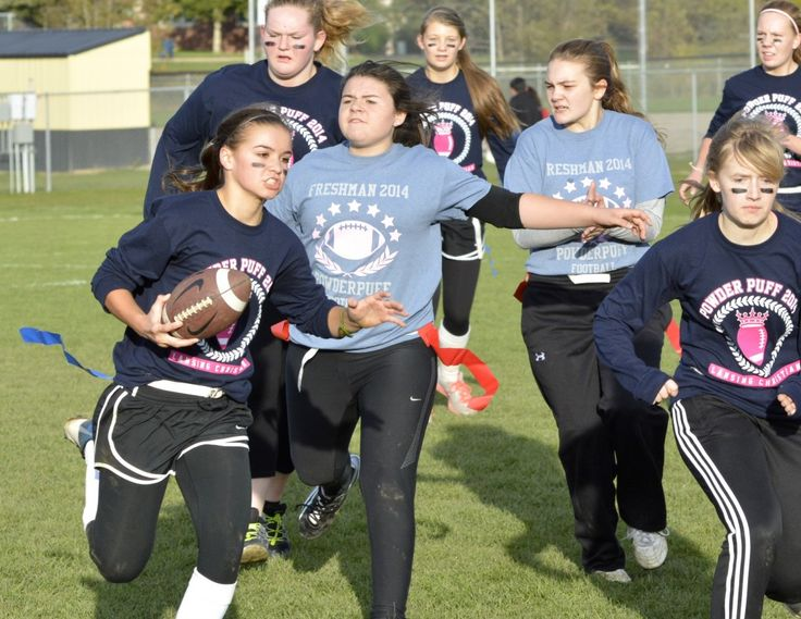 Powder Puff Football Games 2014 - Lansing Christian Pilgrims - Lansing Christian School Athletics