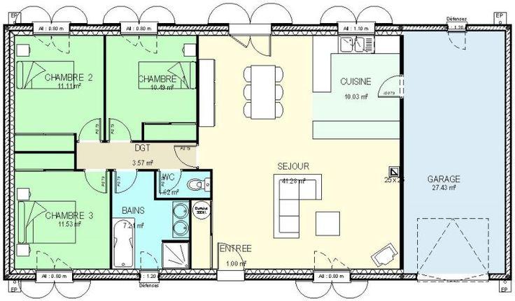 101 migliori immagini plan maison su pinterest for Planimetrie della casa senza garage