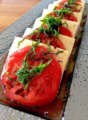 豆腐と完熟トマトのカプレーゼ by midolina [クックパッド] 簡単 ...